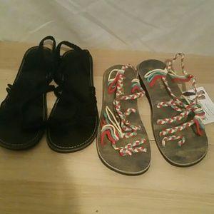 2 pair of Playa club sandels